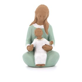 Standbeeld van Onze Lieve Vrouw van Welkom, 15 cm, polychroom