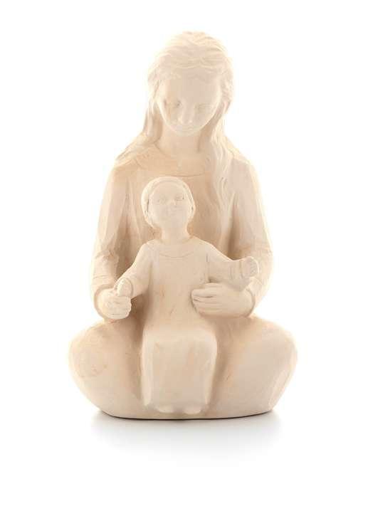 Statue de Notre-Dame de l'Accueil, 15 cm, ton pierre