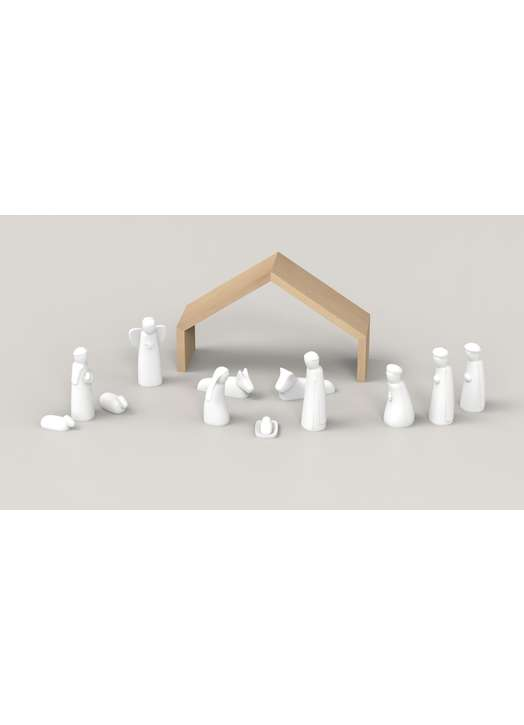 Crib alabaster, 15 cm (vue d'ensemble)