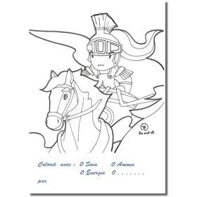 Ansichtkaarten inkleuren: de komst van Olibrius (Recto)