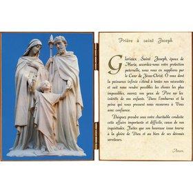 Diptyque de La Sainte Famille avec une prière à Saint Joseph