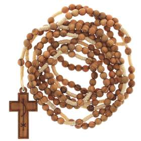 Chapelet - rosaire 20 dizaines en corde
