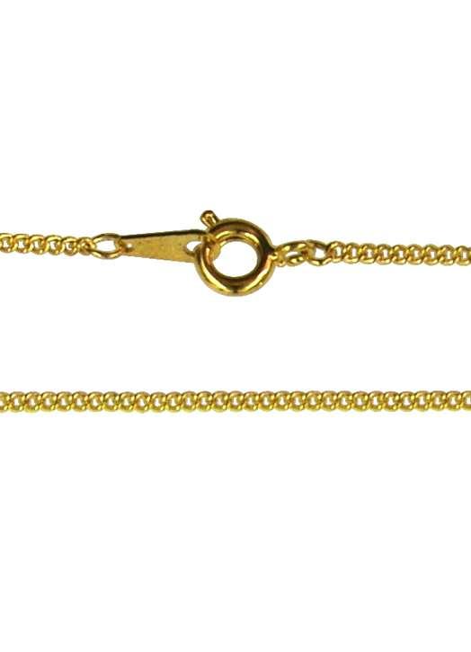 collier - maille gourmette (métal doré), 50 cm