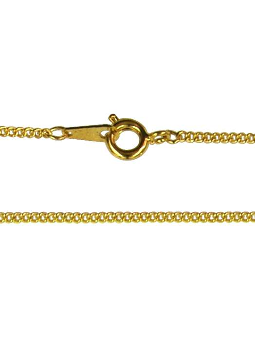Curbed necklace (gold-coloured metal), 50 cm