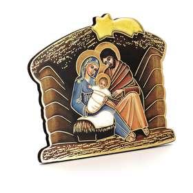 Icono de la Natividad en forma de pesebre de Navidad