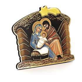 Nativity icon in the form of a Christmas crib