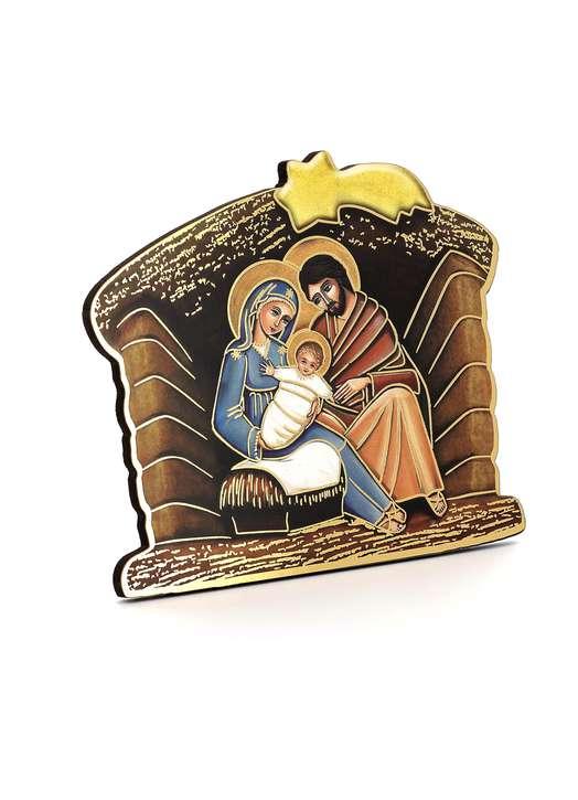 Icône de la Nativité en forme de crèche de Noël