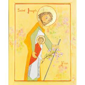 Icoon van de heilige Jozef die terugkeert uit Egypte