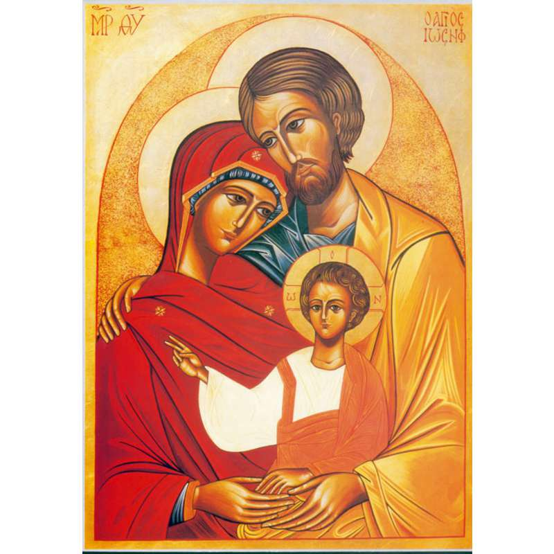 Icon of The Holy Family (Benedictines of Monti Oliveti) (G, GL, PRB, M)