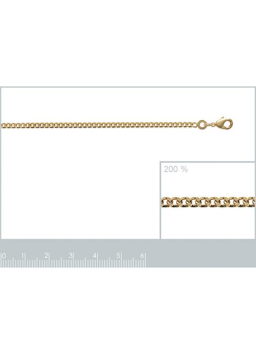 Curbed necklace (gold plated metal)