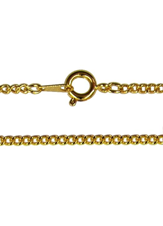 Curbed necklace (gold metal)