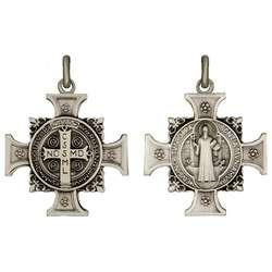 Médaille de saint Benoît en croix