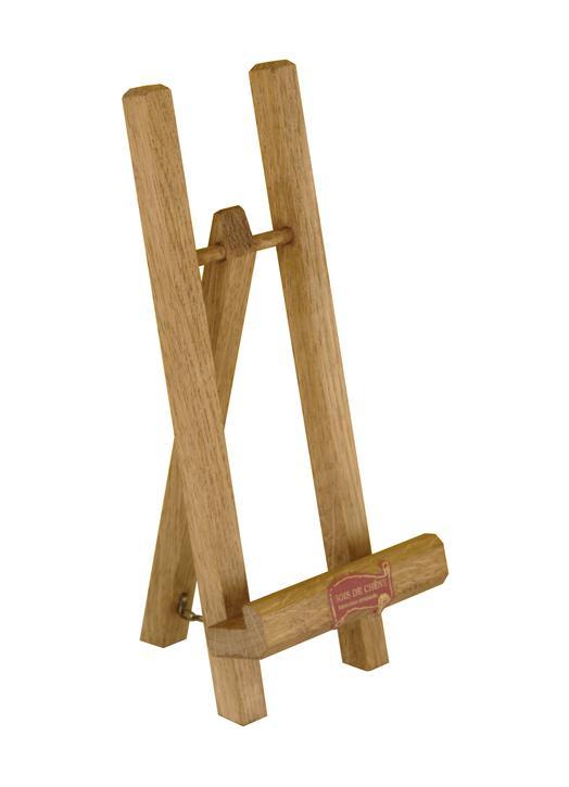 wooden easel 23 cm (Vue de face en biais)