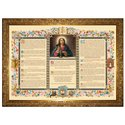 """Altar cards """"Carmel"""" with narrow moulding (Canon central)"""