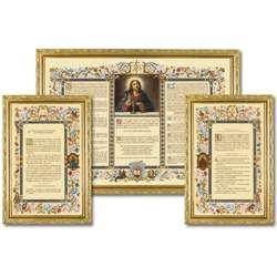 """Sacras de altar """"doradas"""" con moldura estrecha (L'ensemble des 3 canons)"""