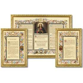 "Altar cards ""Carmel"" with narrow moulding (L'ensemble des 3 canons)"