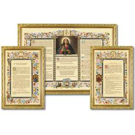 "Altar cards ""Carmel"" with narrow moulding (L'ensemble des 3 canons)"