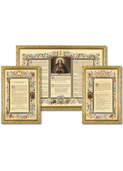 """Canons d'autel """"Carmel"""" avec moulure étroite (L'ensemble des 3 canons)"""