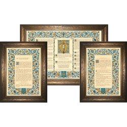 """Altar cards """"Azure"""" (L'ensemble des 3 canons)"""