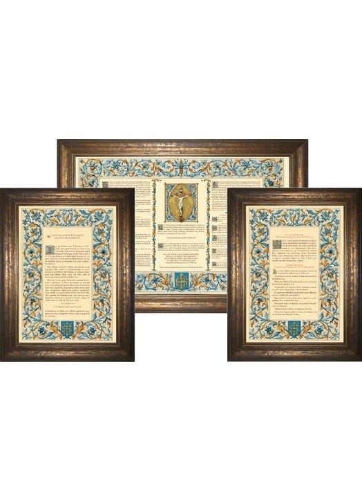 """cánones de altar """"Azul"""" (L'ensemble des 3 canons)"""