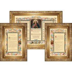 "cánones de altar ""Carmelo"" con amplia moldura (L'ensemble des 3 canons)"