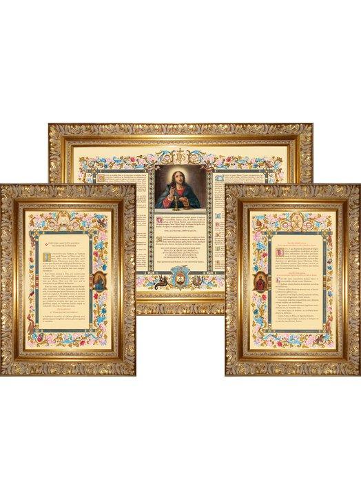 """Canons d'autel """"Carmel"""" avec large moulure (L'ensemble des 3 canons)"""