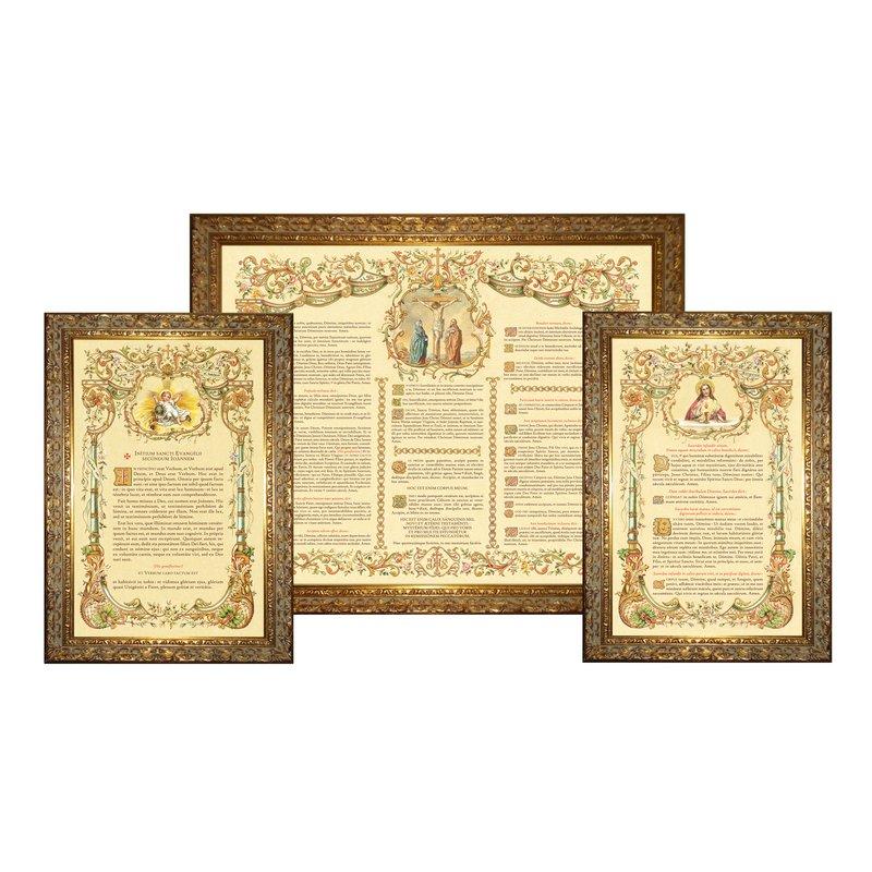 """Canons d'autel """"Or"""" avec moulure étroite (L'ensemble des 3 canons)"""