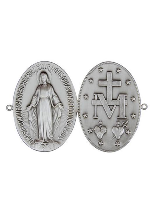 Placa de la medalla Milagrosa para puerta