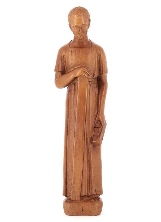 Vente Statue de saint Joseph artisan, 20 cm (Vue de face)