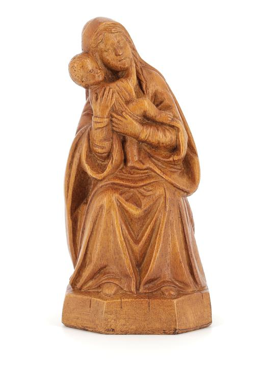 the sitted Virgin, 15 cm (Vue de face)