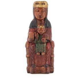 Statue de la Vierge de Montserrat, 29 cm (Vue de face)