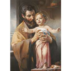Saint Joseph end The Child Jesus