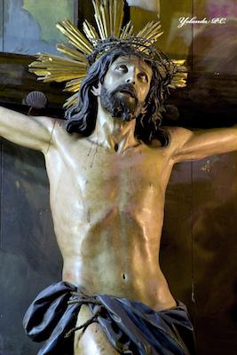 Gros plan sur le Christ de Limpias