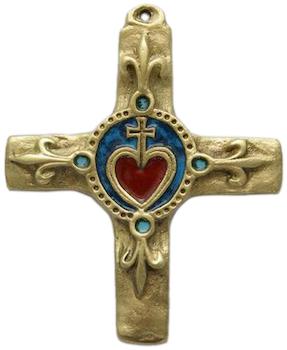 Crucifix avec coeur