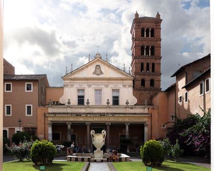 Eglise de sainte Cécile au Trastevere à Rome (extérieur)