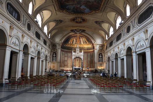 Eglise de sainte Cécile au Trastevere à Rome (intérieur)
