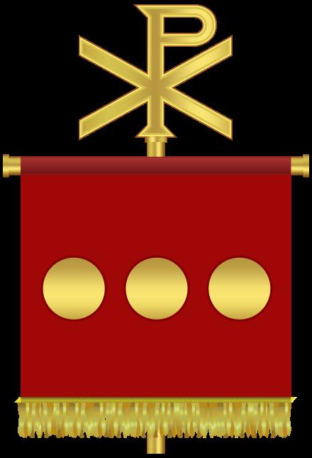 Le Labarum avec la Croix de Constantin