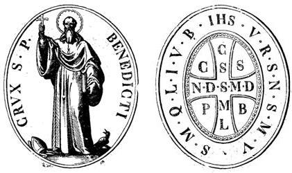 Médaille croix de saint Benoit selon Dom Guéranger