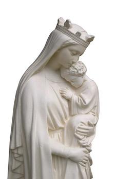 Notre-Dame de la Sagesse en gros plan