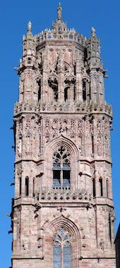 détail du clocher de la cathédrale de Rodez refait par Mgr d'Estaing
