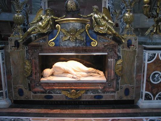 Tombeau de sainte Cécile à Rome
