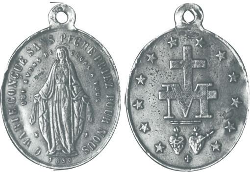 Première médaille miraculeuse de la rue du Bac