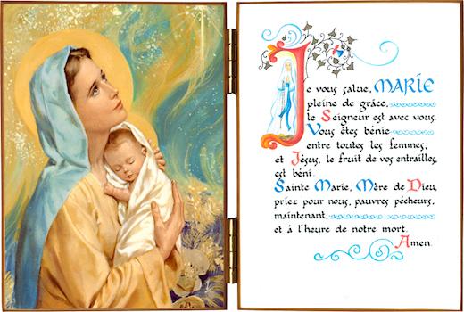 explication du je vous salue Marie - objets religieux - boutique chrétienne