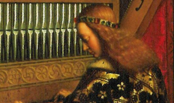 Anges musiciens du retable de l'Agneau mystique