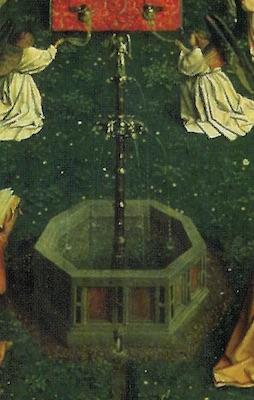 Fontaine du retable de l'Agneau mystique