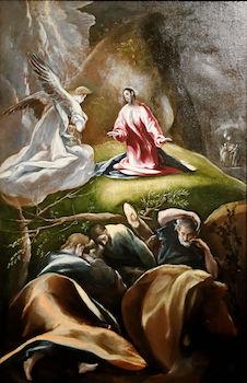 Saint Gabriel réconfortant Jésus à l'agonie
