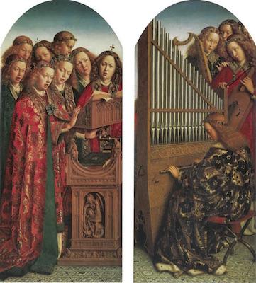 Les Anges chanteurs et musicens du retable de l'Agneau mystique