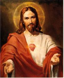 bénédiction dans les mains du Christ