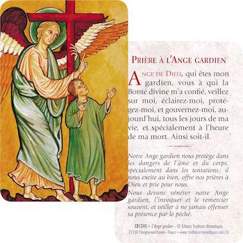 Carte-prière Ange Gardien