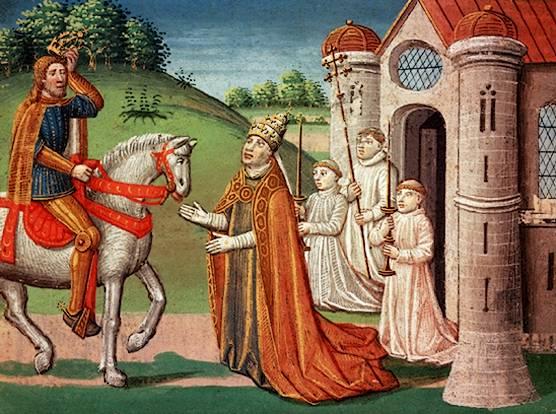 Charlemagne et le Pape Adrien 1er
